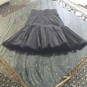 ALAIA - high waisted flared skirt